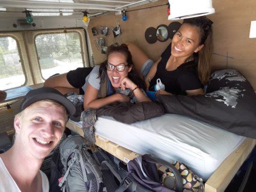 reisgezelschap in mijn busje