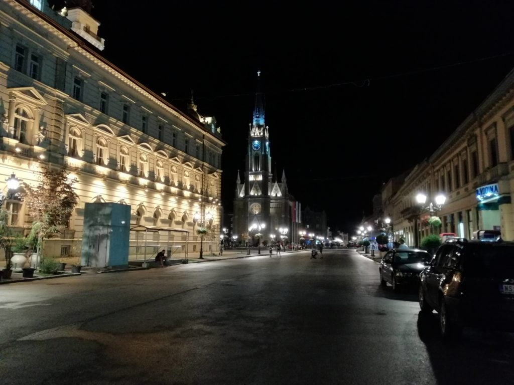 Novi Sad at night