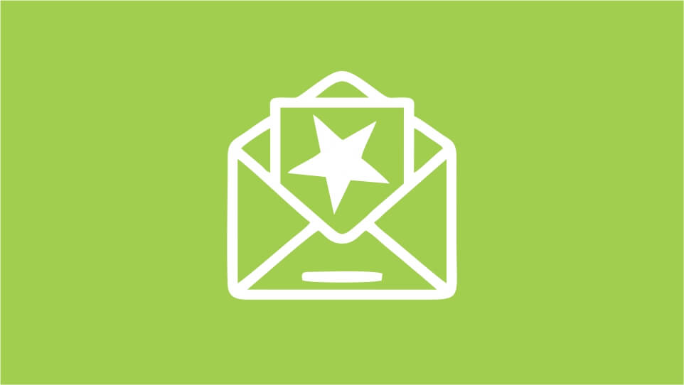 Mailing maken en versturen