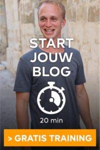 Blog beginnen in 20 minuten